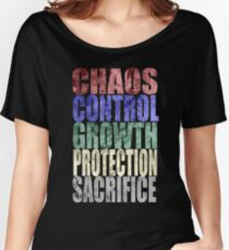 Chaos, Control, Growth, Protection, & Sacrifice Women's Relaxed Fit T-Shirt