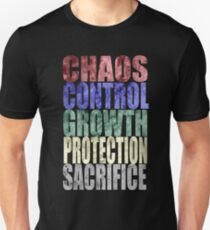 Chaos, Control, Growth, Protection, & Sacrifice T-Shirt