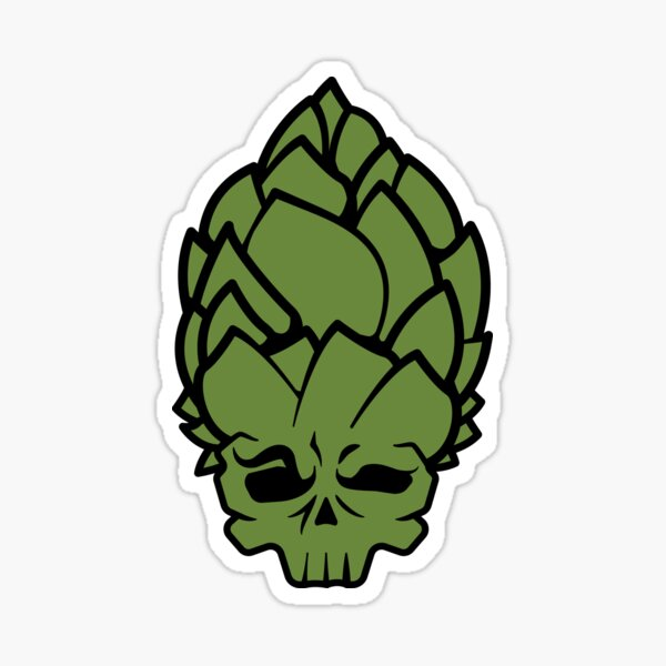 Hop Head Sticker