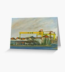 Samson and Goliath Greeting Card