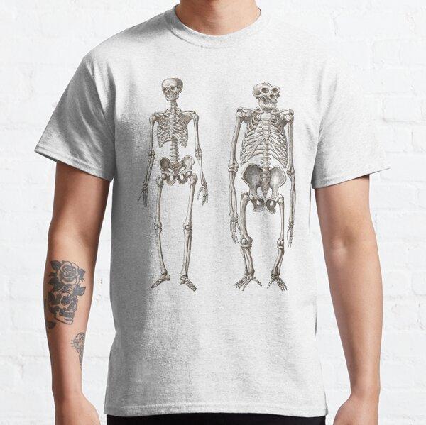 Skelette von Menschen und Affen Classic T-Shirt