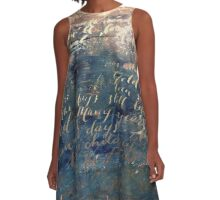 Gold Beneath the Water A-Line Dress