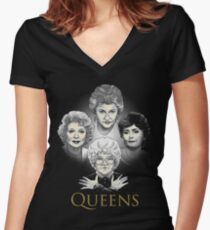 Golden Queens Fitted V-Neck T-Shirt