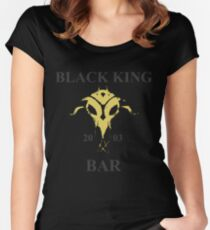 Black King Bar Women's Fitted Scoop T-Shirt