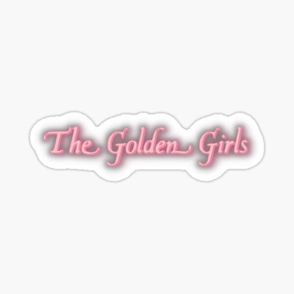 The Golden Girls Pink Logo Sticker