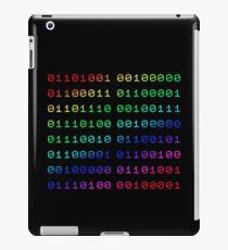 Binary... i can't read it! iPad Case/Skin