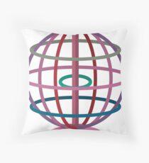 Wired globe cartoon art Throw Pillow