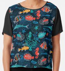 Tropical Fish Under the Sea Chiffon Top