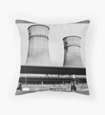 Cooling Towers / Viaduct / Boy Throw Pillow