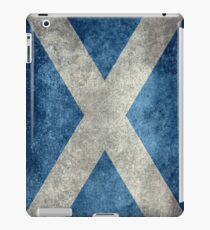 National flag of Scotland - Vintage version iPad Case/Skin