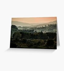 Foggy morning in Lake District Greeting Card