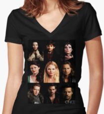 OUAT Posters Tee Women's Fitted V-Neck T-Shirt