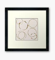 Coffee Stains Framed Print