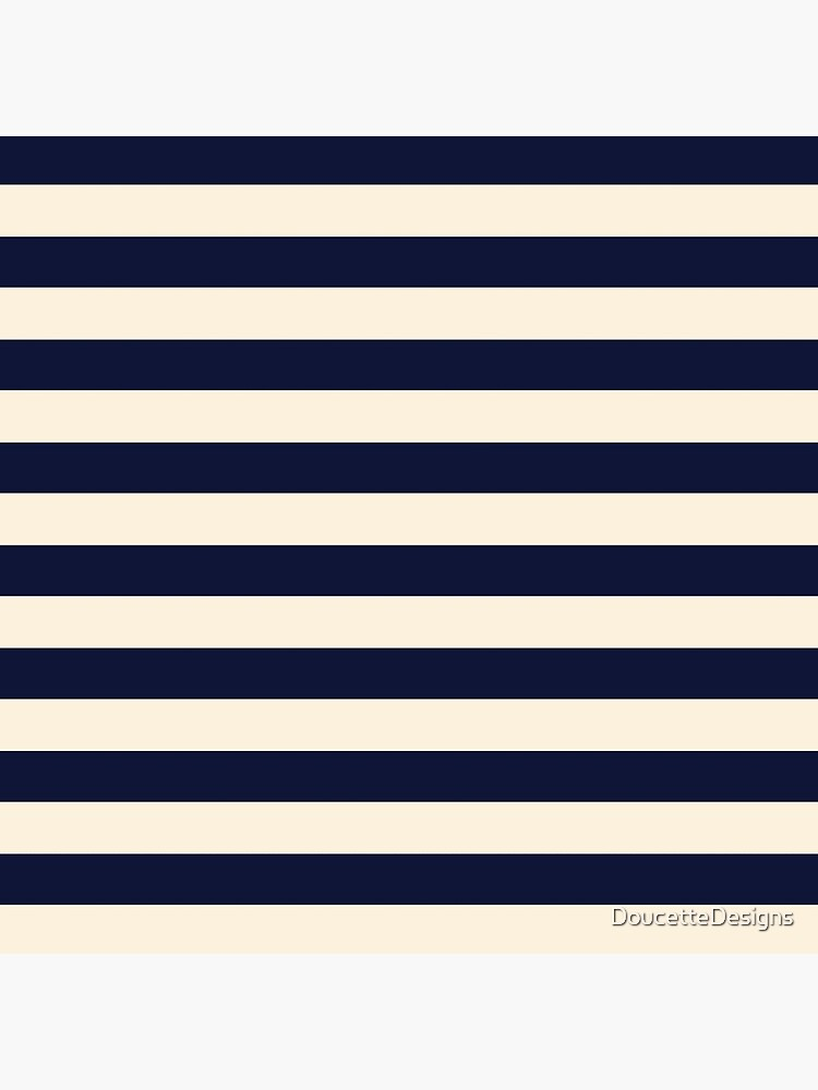 Navy Ivory Bold Stripes by DoucetteDesigns