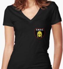 DMDC Detectorists Badge Women's Fitted V-Neck T-Shirt