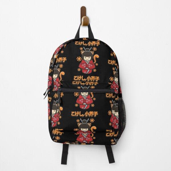 Kokeshi Doll Cute Cat Backpack