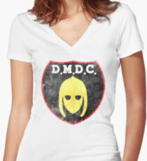 DMDC Detectorists Logo - Distressed Women's Fitted V-Neck T-Shirt