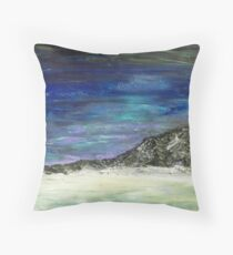 Arctic sunset (blue) Throw Pillow