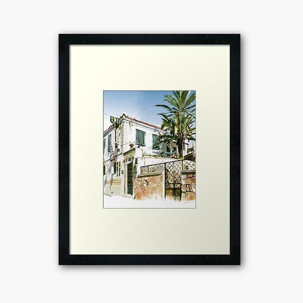 Aegina palm Framed Art Print