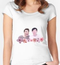 Dan and Phil | Cherry Blossom Women's Fitted Scoop T-Shirt