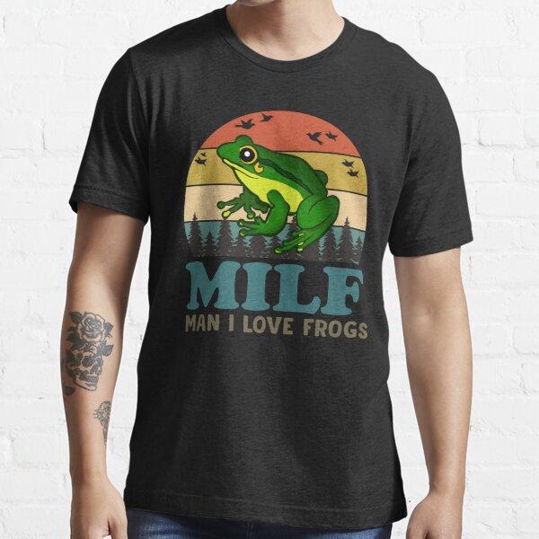 MILF homme j'aime les grenouilles T-shirt essentiel