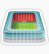 Football stadium design Sticker