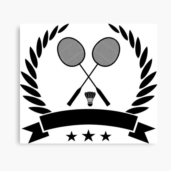 Vintage style badminton logo Canvas Print