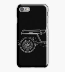 Jeep Willys CJ2A Outline iPhone Case/Skin