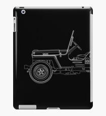 Jeep Willys CJ2A Outline iPad Case/Skin