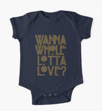 Möchte Whole Lotta Liebe Baby Body Kurzarm