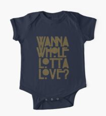 Wanna Whole Lotta Love Short Sleeve Baby One-Piece