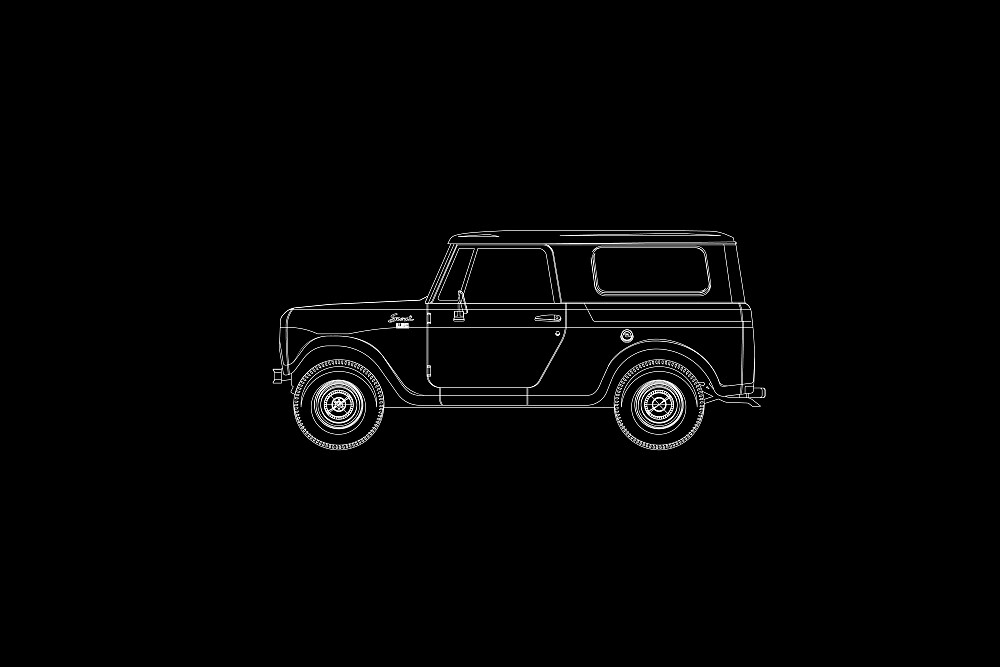 International Harvester Scout 800 Outline by Jeff Merrick