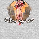 Tropischer Hawaiianer - Pinup Girl von Candywrap Design