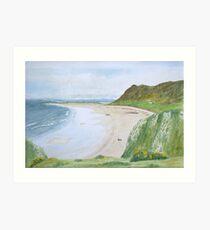 Rhossili Bay by John Rees Art Print