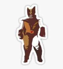 Wolverine Brown & Tan Sticker