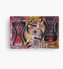 Upside Down Ngoma Instruments Canvas Print