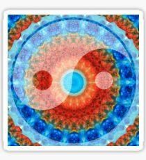 Ideal Balance Yin and Yang by Sharon Cummings Sticker