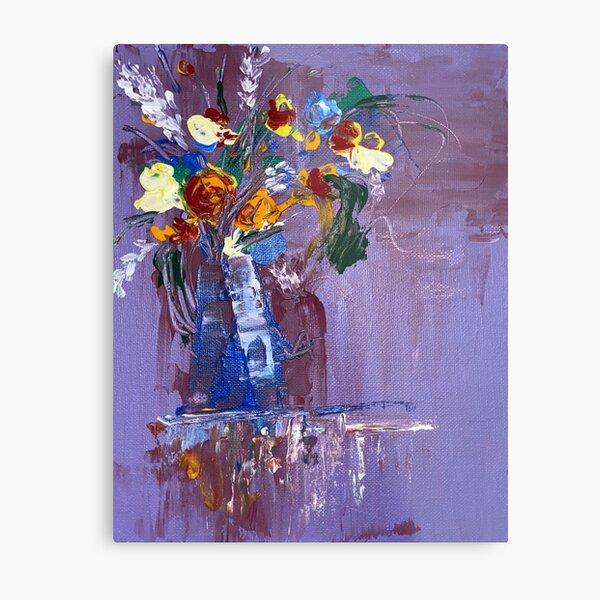 purple flowervase Metal Print