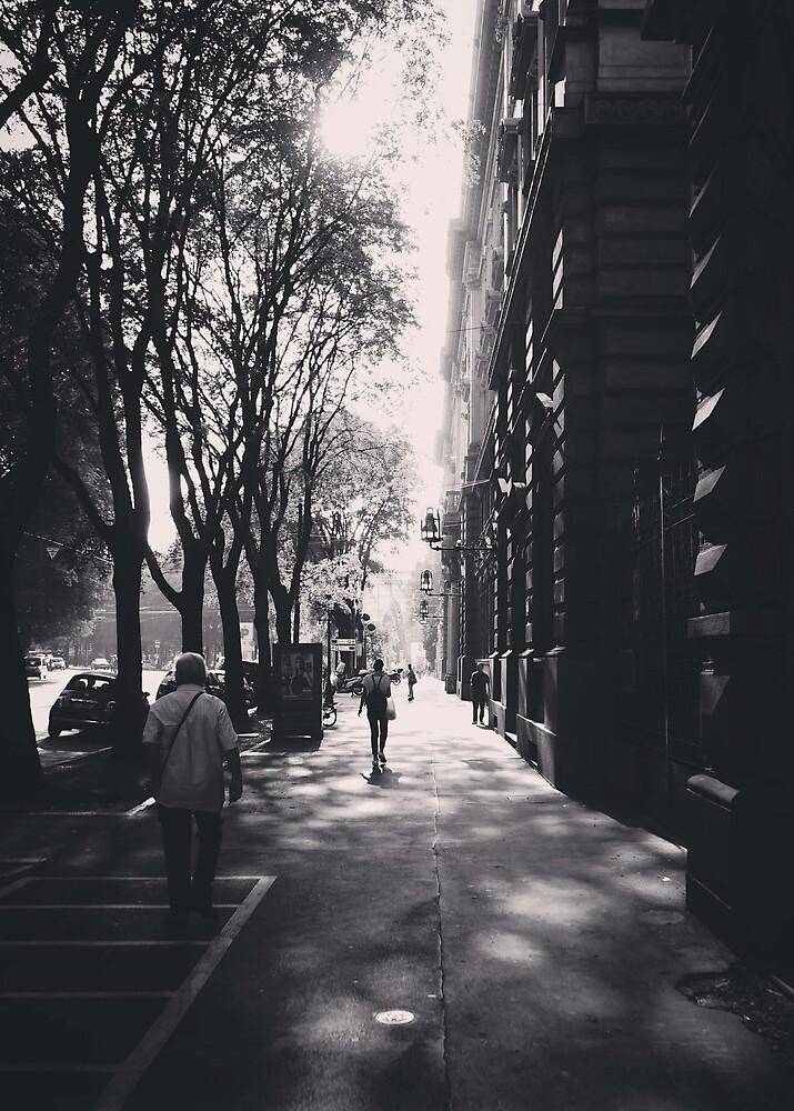 Milano Street Scene 2018 by Douglas E.  Welch