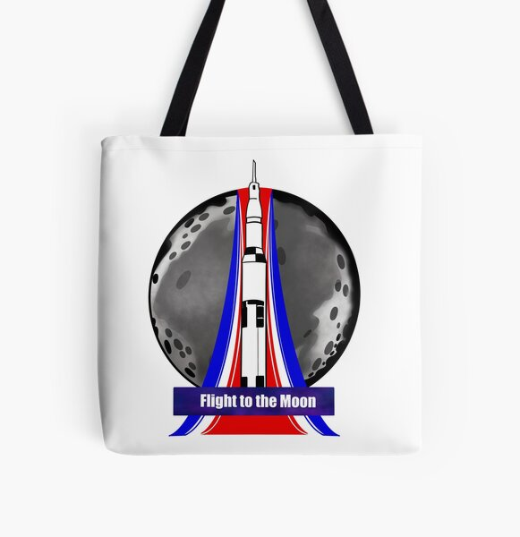 Flight to the Moon  All Over Print Tote Bag