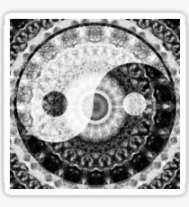 Ideal Balance Black And White Yin and Yang by Sharon Cummings Sticker