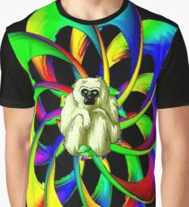 """MONKEY IN THE SPHERE"" Psychedelic Art Deco Print Graphic T-Shirt"