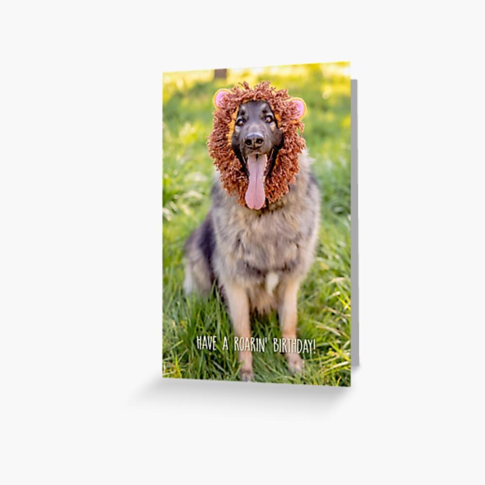 Have a roarin' birthday! greeting card Greeting Card