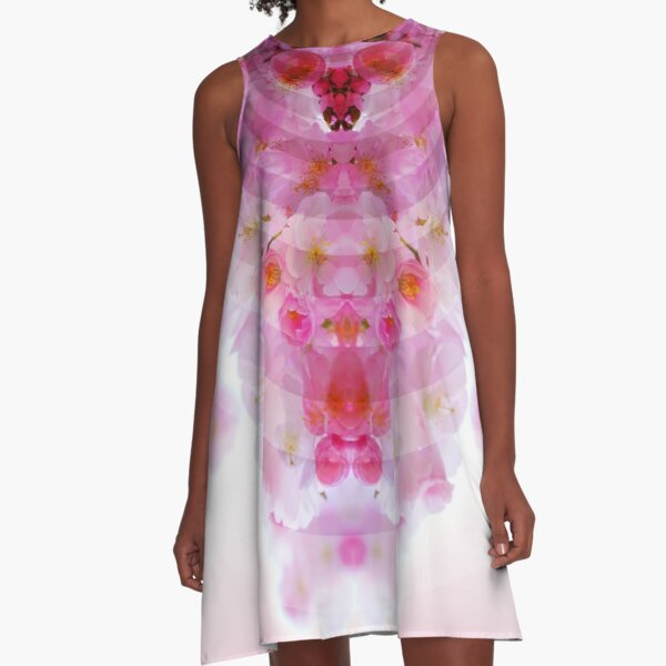 Cherry Blossom Bloom A-Line Dress