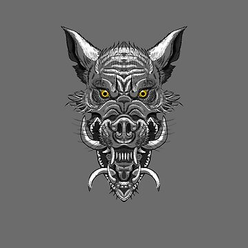 Monster Wolf-Pig by EbeeThe1st