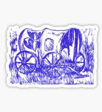 Abandoned Wagon Sticker