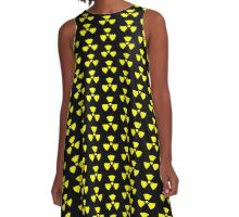 Radioactive T-Shirt Sticker Duvet A-Line Dress