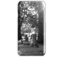 Fair Oaks Cemetery Black & White iPhone Case/Skin