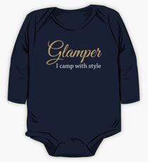 Glamper Glamping T Shirt One Piece - Long Sleeve