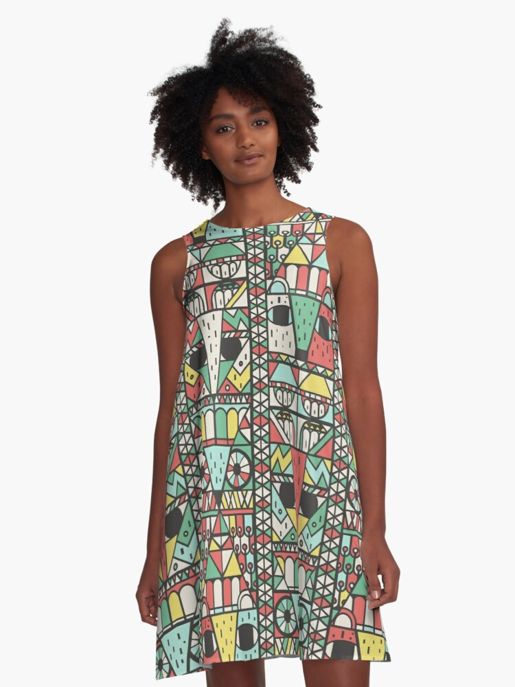 Totemly Yours in Pastels  A-Line Dress Front